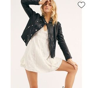 NWT Free People New Dawn Vegan Faux Leather Jacket